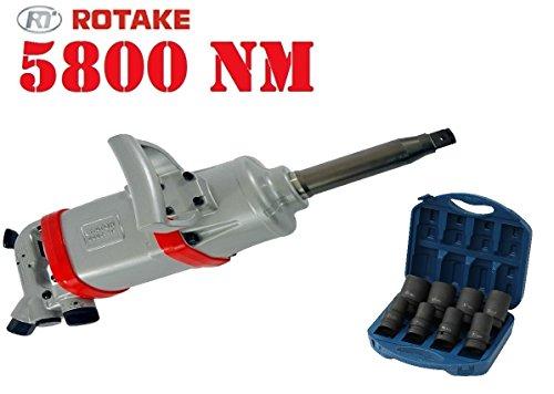 ROTAKE Druckluft Schlagschrauber 5800 NM inkl. Kraftnuss Satz CRMO