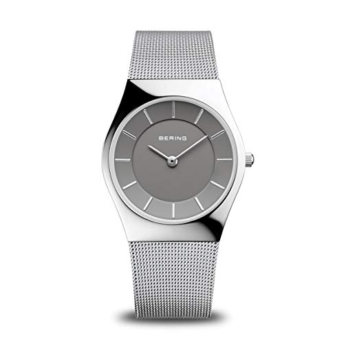 BERING Damen Analog Quarz Classic Collection Armbanduhr mit Edelstahl Armband und Saphirglas 11936-309