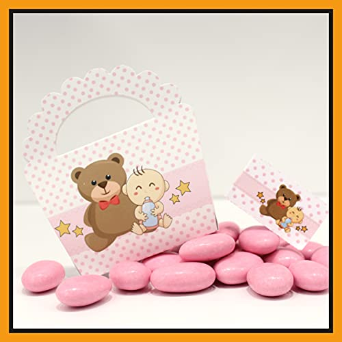 25+25 pezzi - Scatoline Portaconfetti Bomboniere Battesimo compleanno Nascita femmina n....
