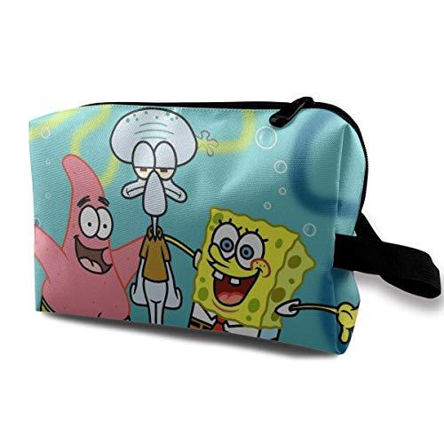 Toiletry Travel Bag Spongebob Squarepants with Friends for Women Girls