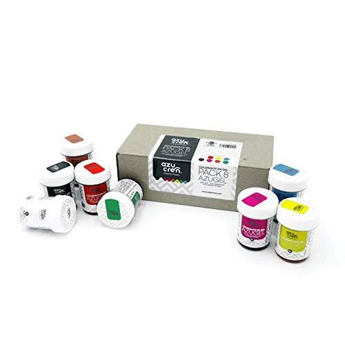 Set Colorantes Alimentarios en Gel - Ideal para Repostería (fondant, buttercream, bizcochos...) - 8 Unidades