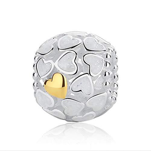 Ciondolo in argento sterling 925 Codemonkey Genuine Stelring Shining Love Beads Charms Design originale per gioielli da donna Regalo di compleanno