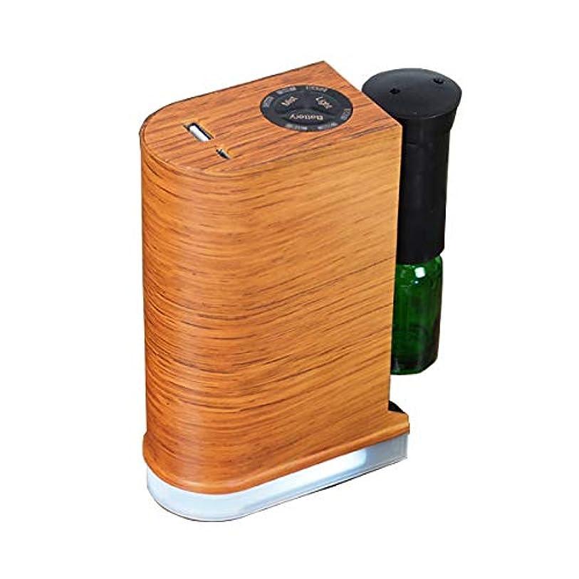 柔らかい足表現説得アロマデュフューザー 水を使わない ネブライザー式アロマディフューザー LED搭載 アロマオイル 精油 アロマ芳香 (ブラウン)