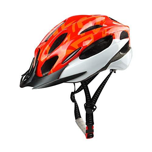 DesignSter Casco da Bicicletta Modellato integralmente con Visiera Rimovibile/Fodera di Ricambio, Casco da Bici Regolabile per Uomo Donna, Casco Traspirante per Ciclismo su Strada e Mountain Bike