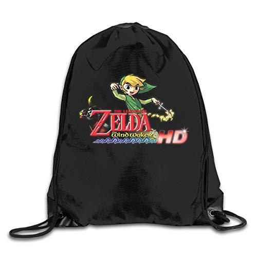 DSGFSQ Sporttaschen Turnbeutel Drawstring Bag The Legend of Zelda Wind Waker Gym Sport Bags Cinch Sacks Travel Hiking Backpack for Men Women