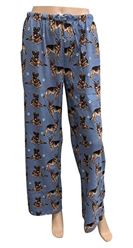 E & S Imports Women's German Shepherd Dog Lounge Pants- Dog Pajama Pants Bottoms - Large