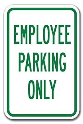Not Applicable Novelty Sign Employee Parking Only Sign Man Cave Decorative 8x12 Inch Metal Tin Sign Decoration Iron Painting