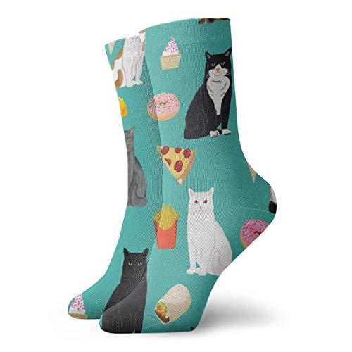 Tammy Jear Cats Junk Food Donut Pizza Uomo Donna Moda Carini...