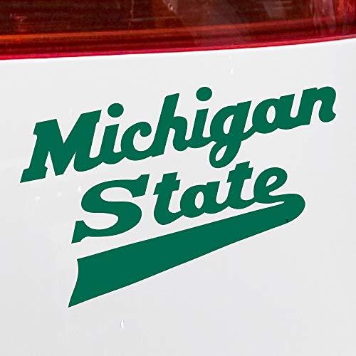 Nudge Printing Michigan State University MSU Spartans Hockey Schriftzug Logo Autoaufkleber Stoßstangenaufkleber, grün