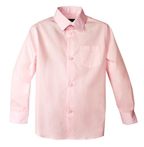 Spring Notion Baby Boys' Long Sleeve Dress Shirt 24M Pink