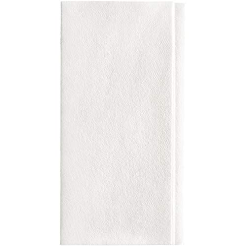 Dixie Ultra 1/8-Fold Linen Replacement Dinner Napkin (Previously Essence Impressions) by GP PRO (Georgia-Pacific), White, 92117, 100 Napkins Per Pack, 4 Packs Per Case