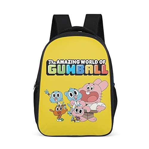 The Amazing World of Gumball: Mochila escolar para niños  color amarillo  multifuncional