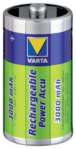 Varta Power Batterie ni-mh Baby 1,2 v/c 3000mAh-lot de 2