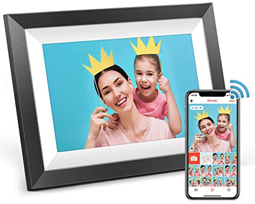 Digital Picture Frame WiFi,MARVUE Digital Photo Frame 10.1 inch IPS Touch Screen HD Display, 16GB Storage Auto-Rotate,Easy to Share Photo/Video via Frameo App, Cloud from Anywhere (Dark Black)