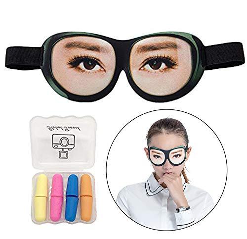 Maschere per gli occhi di sonno per donne e uomini, Maschera per gli occhi Premium ultra morbida divertente 3D per dormire/viaggiare, coprire la copertura di luce al 100% leggera (Ciglia lunghe)