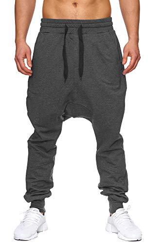Elara Pantalon de Jogging pour Hommes Style Harem Confortable | Bon Ajustement et Style décontracté | Chunkyrayan P-501 Anthrazit XXL