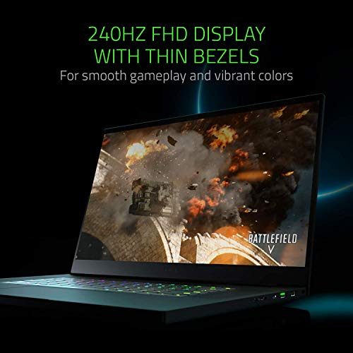 Razer Blade Pro 17 (17,3 Zoll Full-HD Display) Gaming Notebook (Intel Core i7-9750H, 16GB RAM, 512GB SSD, NVIDIA GeForce RTX 2080 Max-Q, Win 10, DE-Layout), schwarz (Generalüberholt)