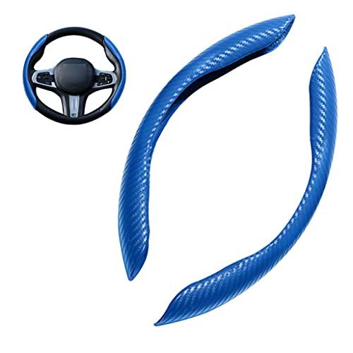 Fundas Para Volante Patrón De Fibra De Carbono Compatible con Model 3 Model S Model Y Model X, Universal Tamaño Estándar 38cm/15 pulgadas, Antideslizante Volante Protector