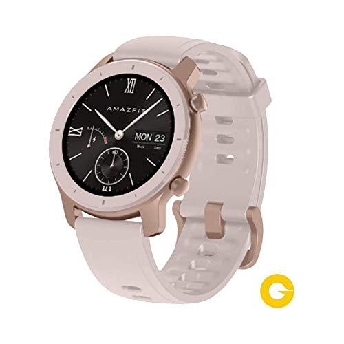 Amazfit GTR Reloj Smartwatch Deportivo | 42mm | 18 días de batería | AMOLED de 1.2' | GPS + GLONASS | Cherry Blossom Pink (Reacondicionado)