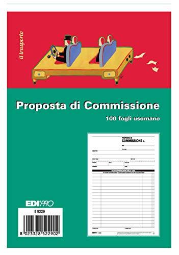 EDIPRO - E5229 - Blocco copia commissione 100 fogli uso mano f.to 22x14.8