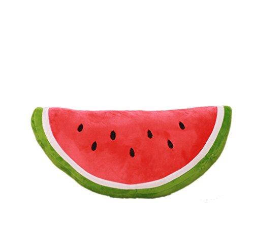 XueXian(TM) Kissen Wassermelonen Obst Plüsch Dekokissen(Semi-circular,30 cm)