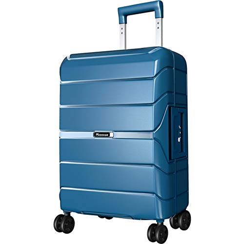 Modoker luggage Expandable Suitcase Prussian Blue