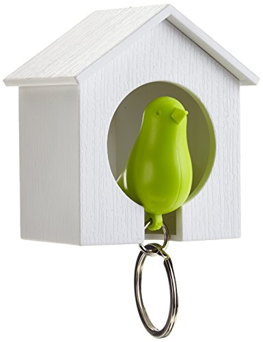 Sin marca Qualy Sparrow Keyring - Green with White House (Japan Import)
