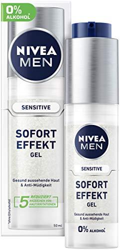 Nivea Men Sensitive Sofort Effekt Gel für empfindliche Haut (50 ml), leichtes Feuchtigkeitsgel, mit Kamille und Vitamin E für gesund aussehende Haut & Anti-Müdigkeit