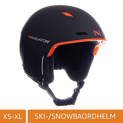 NAVIGATOR TUKAN Skihelm Snowboardhelm, einstellbar, div Farben, XS-XL (SCHWARZ/ORANGE, M-XL (58-62cm))
