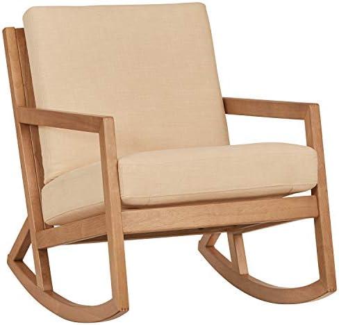 Best Amazon Brand – Stone & Beam Modern Hardwood Rocking Chair, 24.5
