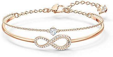 Swarovski Oändlighetsarmband, damarmband med oändlighetssymbol och gnistrande Swarovski-kristaller