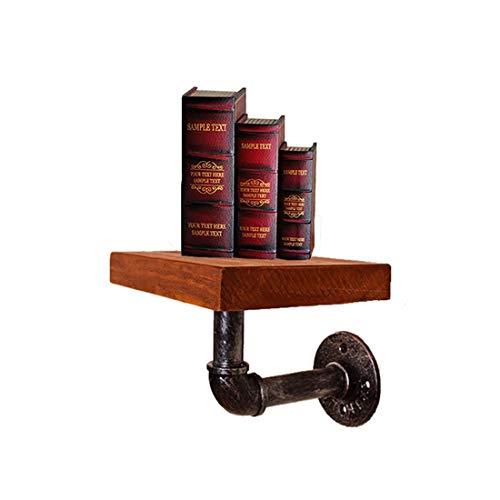 FLM Tubo estante Librería – estantería de pared(21 x 15 x 6 cm)Soporte flotante de madera
