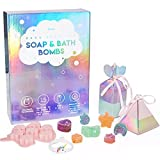Soap & Bath Bomb Making Kit - Make Your Own Unicorn Bath Bomb & Soap Set for Kids - DIY Kit with Natural Ingredients, Reusable Molds and Gift Bracelet - Educational Craft Kit for Girls