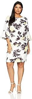 فستان حريمي ضيق ضيق ضيق على الجانب بمقاس كبير من Jessica Howard بأكمام جرس