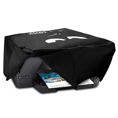 kwmobile Hülle kompatibel mit HP OfficeJet Pro 6000series - Drucker Staubschutzhülle Schutzhaube Schutzhülle - Don't touch my printer Weiß Schwarz