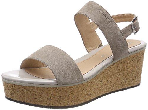 Stonefly Diva 1 Velour, Zapatos con Plataforma para Mujer, Beige (Taupe Brown 075), 40 EU