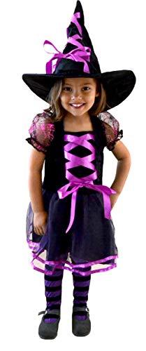 El Carnevale Costume Strega Tulle Lilla Bambina Taglia 8 – 10 Anni
