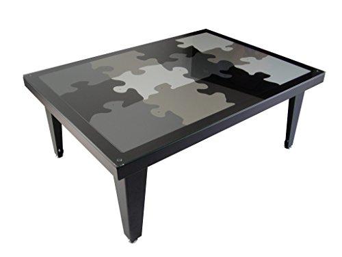 Styl'Métal 21 Table Basse Puzzle 4 Pieds métal Noir, Blanc, Gris, Taupe