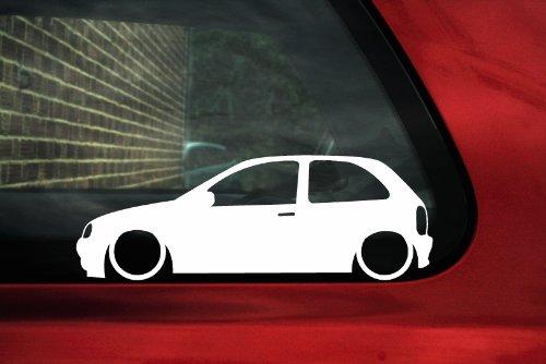 Abgesenkter Auto Aufkleber, für Opel Corsa B (3 Türer)