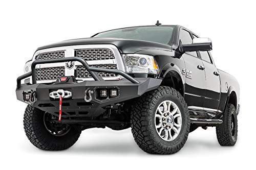 WARN 100473 Ascent Baja Grille Guard Tube Bar, Fits: Chevy Silverado HD 2500, 3500 (2015-2018), Dodge Ram 2500, 3500 (2011-2018)