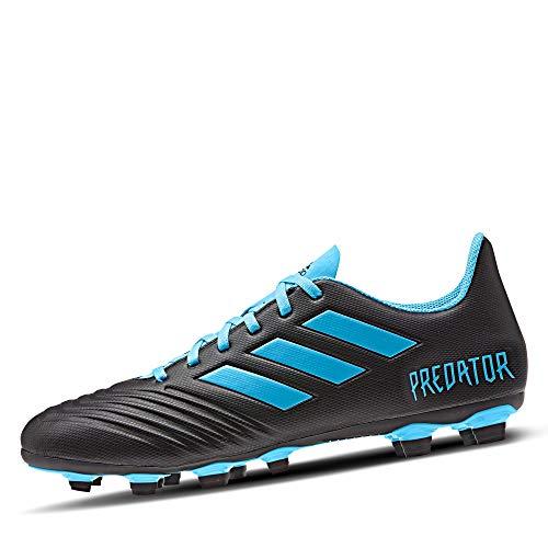 Adidas Predator 19.4 FxG, Botas de fútbol Unisex Adulto, Multicolor (Core Black/Bright Cyan/Solar Yellow 000), 42 2/3 EU