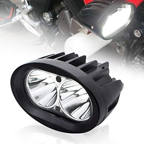 BeiLan Zusatzscheinwerfer Motorrad LED,Scheinwerfer Motorrad,Nebelscheinwerfer Motorrad Schwarz,LED Arbeitsscheinwerfer,Spotlicht Lampe 12V 24V 20W 1800LM Cree 6500K