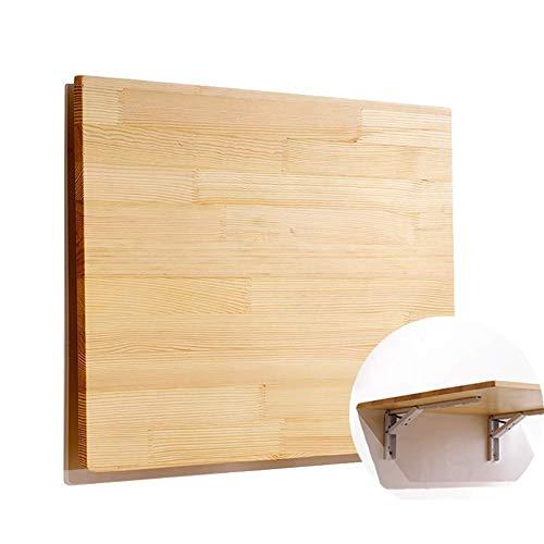 Mesa de Hojas abatibles montada en la Pared en Color Natural Estante Plegable de Madera Maciza para el Estudio del Dormitorio de la Cocina tamaño 15 Opcional (tamaño: 120 y Veces; 40 cm)