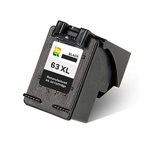 Cartuchos de tinta 63XL, repuesto para impresora de inyección de tinta HP Deskjet 1112 1111 2131 2623 2628 de alto rendimiento compatible con negro y negro x1