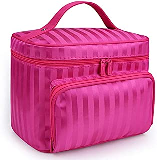SODIAL Rose Red Shape Big Capacity Women Cosmetic Bag Cosmetics Organizer Travel Necessaries Waterproof Makeup Bag Multifunction Toiletry Makeup Bag