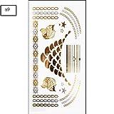 JIEIIFAFH Conjunto de 6 Piezas de Tatuaje Temporal Personalidad Animal Pegatina Estampado en Caliente Acuarela Pintada Tatuaje Pegatina (Color : 6-Piece Set)