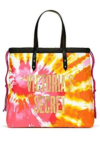 Victoria's Secret Tie-Dye Beach Tote, Sunburst Pink/Orange
