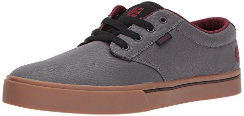Etnies Herren Jameson 2 ECO Skate-Schuh, Grau/Gummi/Rot, 45 EU