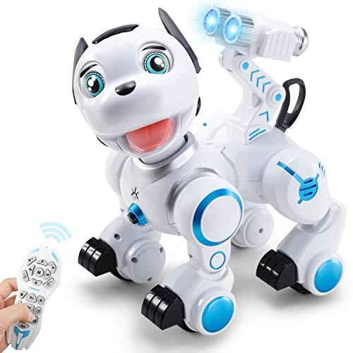 ANTAPRCIS RC Robot Dog Toy - Intelligent Dog Wink Sing Dance Smart Robot Gift for Kids