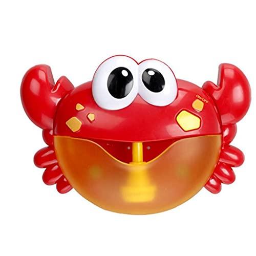 Baño de burbujas fabricante de cangrejo automática ventilador de la burbuja de la máquina con pilas del cangrejo juguete del baño del bebé Nursery Rhymes niño para niños Todas las edades, Juguetes